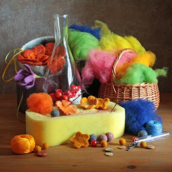 basteln mit filz bastelvorlagen filzen ideen farben