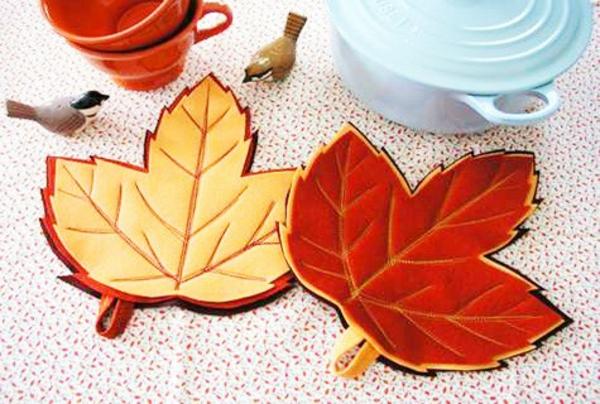basteln mit filz bastelvorlagen filzen ideen herbstblätter