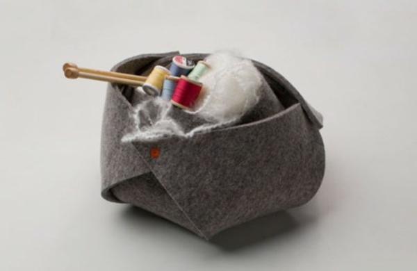 basteln filz bastelvorlagen filzen ideen korb