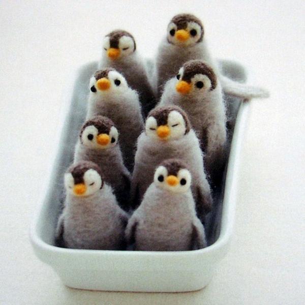mit  filz bastelvorlagen basteln  filzen ideen pinguine
