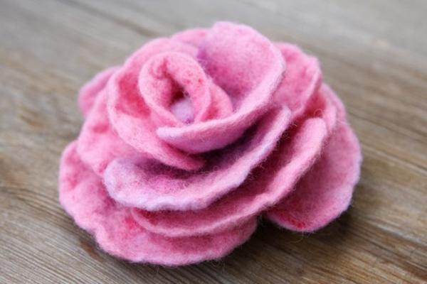 basteln juwel filz bastelvorlagen filzen ideen rose