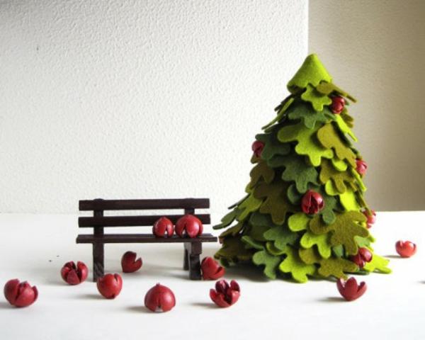 basteln filz bastelvorlagen weihnachten