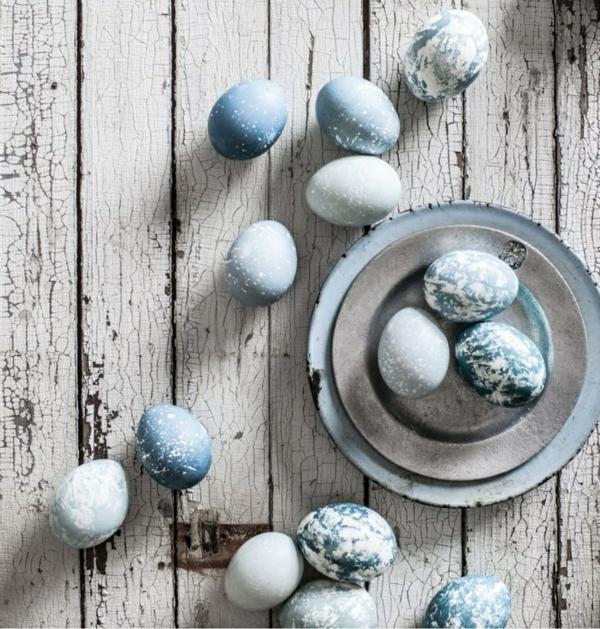 blaue ostereier bildergallerie ostereier dekorieren osterdeko basteln