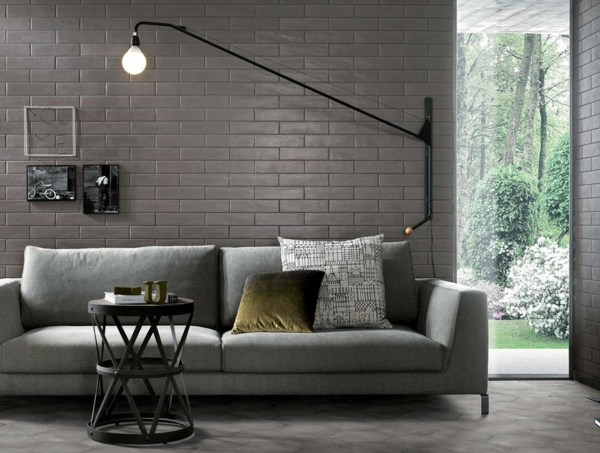 boston ambiente wandflampe sofa grau