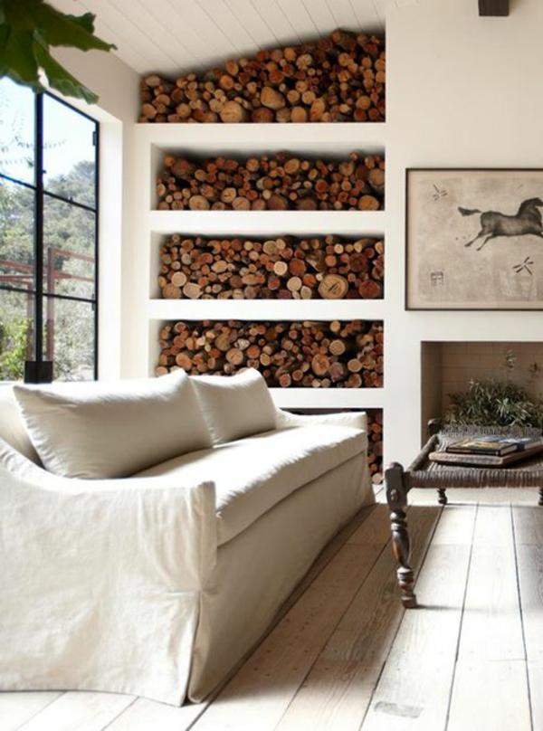 Brennholzlagerung Zu Hause Stilvolle Und Originelle Losungen Fur Sie