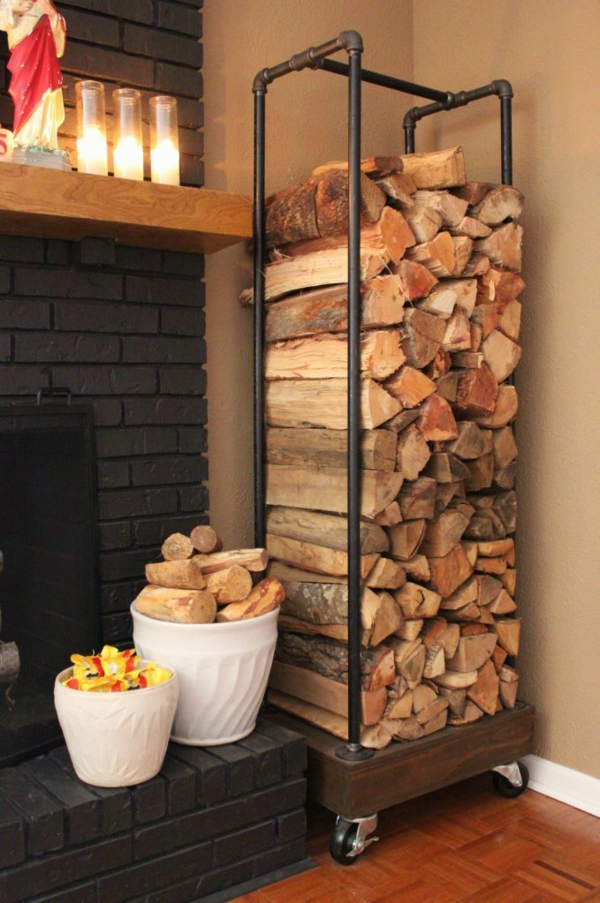 Aufbewahrung Kaminholz brennholzlagerung zu hause stilvolle und originelle lösungen für sie