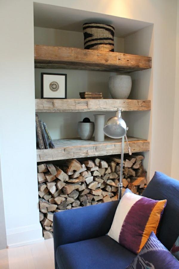 brennholzlagerung zu hause - stilvolle und originelle lösungen für sie - Brennholz Lagern Ideen Wohnzimmer Garten