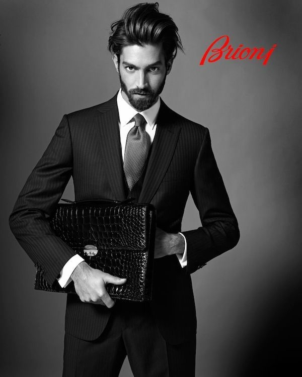 brioni herrenmode italienischer anzug elegant schwarz