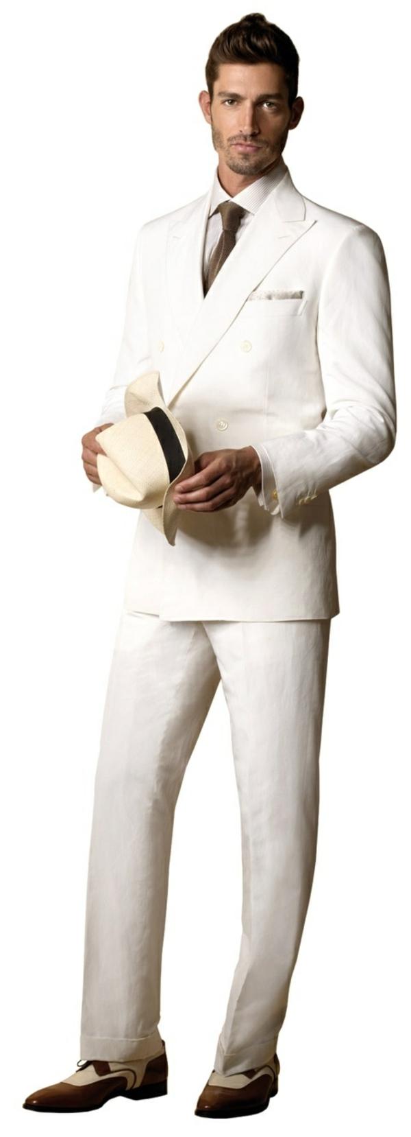 brioni herrenmode italienischer anzug modern weiß