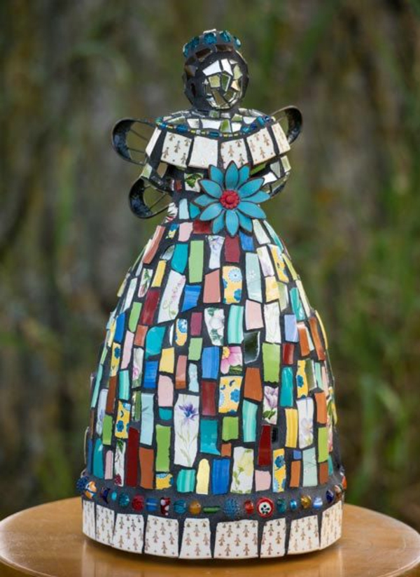 bsateln mosaik gartenideen deko figur