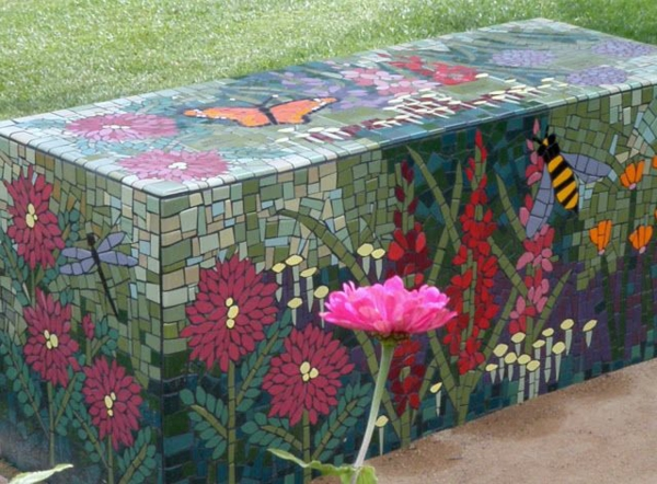 mosaik basteln stein mosaik im garten. Black Bedroom Furniture Sets. Home Design Ideas