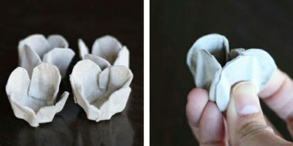 coole bastelideen aus eierschachteln rosen basteln