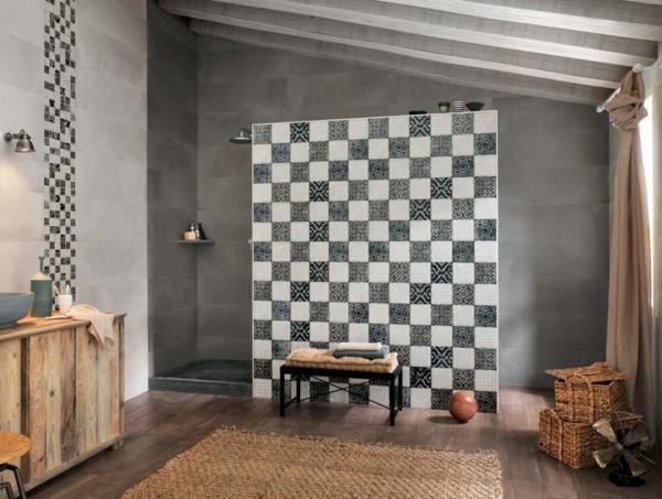 creta ambiente badezimmer trennwand fliesen patchwork