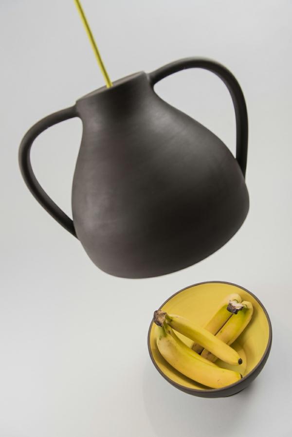 designer leuchten Jar Mejd schale bananen pendelleuchten höhenverstellbar gelb