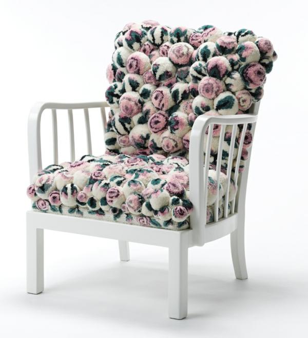 designer sessel blumenmuster bommel MYK pompon chair2.1