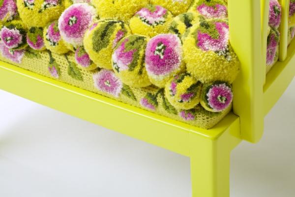 designer sessel bunte bommel MYK pompon chair2.2 detail