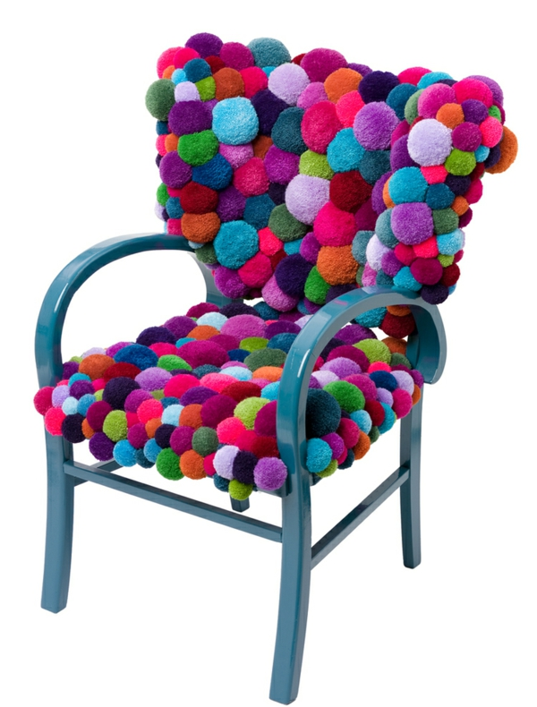 designer stühle bunte bommel MYK pompon chair
