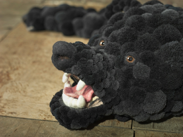 designer teppiche MYK Bearskin schwarz