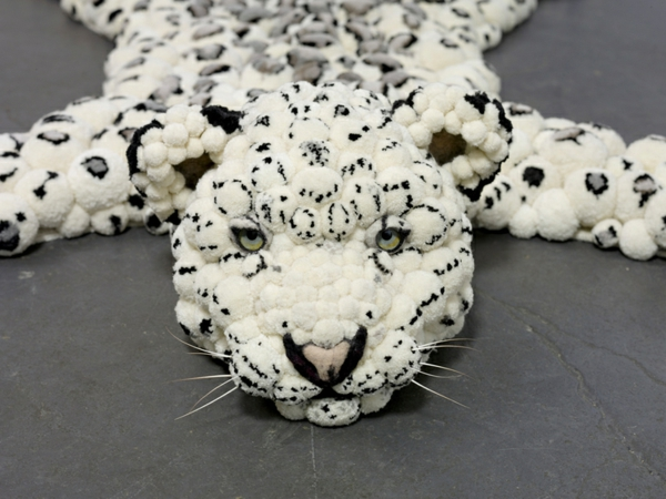designer teppiche MYK Snowleopard kopf