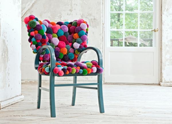 designer stuhl MYK pompon chair Design von Myra Klose