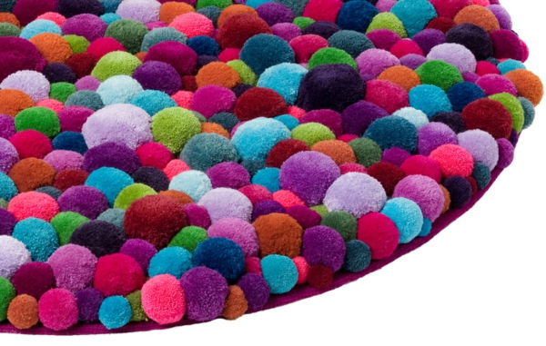 designer teppiche bunte bommel MYK pomponisle