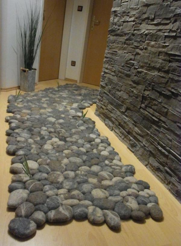 designer teppiche flur läufer kieselsteine