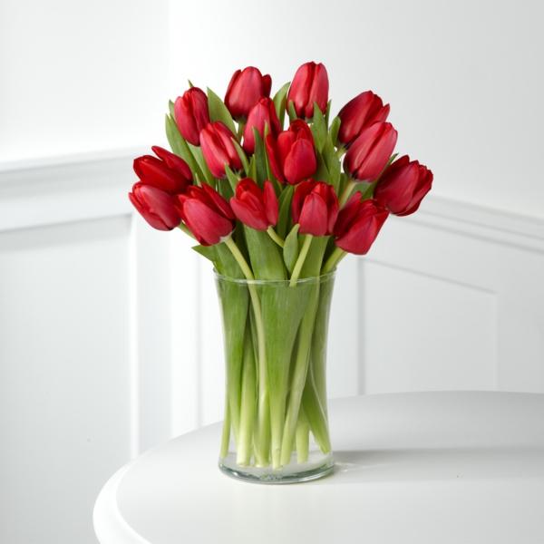 die tulpe rote tulpen vase schöne dekoideen