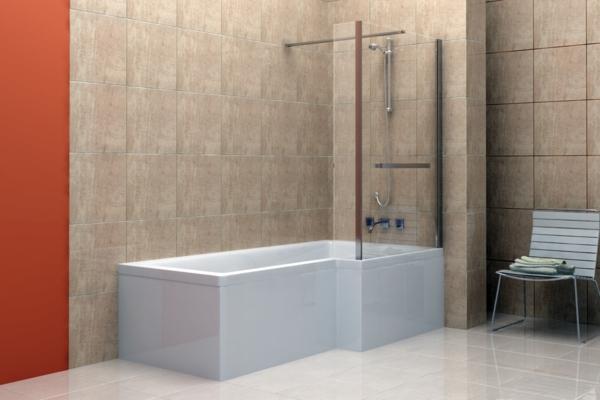 duschwand für badewanne badfliesen stuhl badezimmer