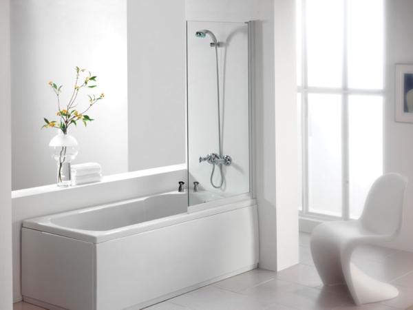 duschwand für badewanne sessel bad deko