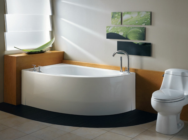 Eckbadewanne eine der tollsten optionen f r ihr badezimmer for Bathroom designs for small spaces south africa