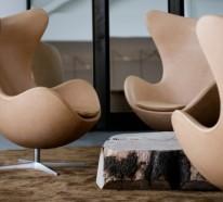 Verblüffende Ei Sessel peppen das Innendesign auf