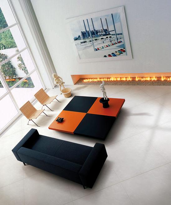 zona giorno sofa elite collection orange couchtisch
