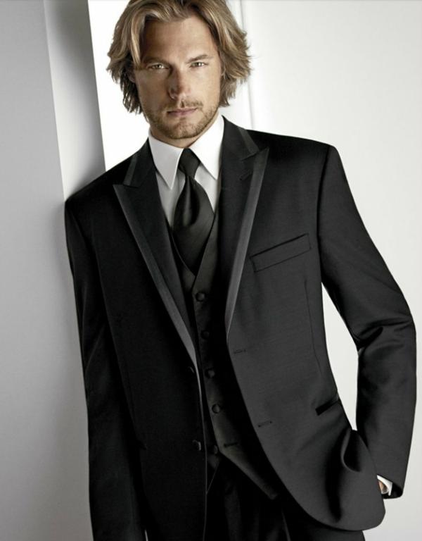 englischer anzug schwarz männer anzug