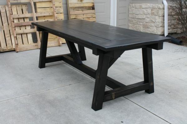 esszimmermöbel massiv esstisch schwarz massivholzmöbel günstig