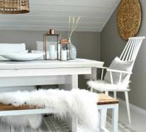 Im Winter können Sie Ihre Wohnung skandinavisch einrichten