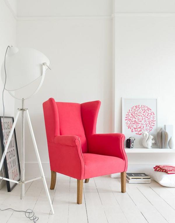 Sessel farbig  Bunter Sessel bezaubert das Innendesign auf eine farbenfrohe Weise