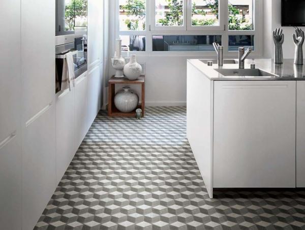 firenze ambiente kücheninsel grau weiß muster