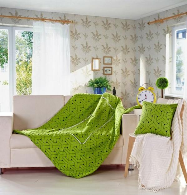 florale tapeten wohnzimmer pflanzen schöne wohnideen