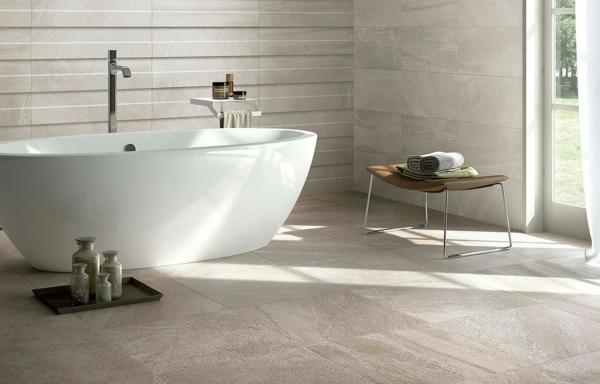 Italienische fliesen von flaviker pisa strahlen luxus und sthetik aus - Witte badkamer en bruin ...