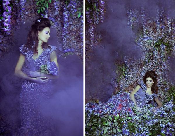 fotokunst blauregen lila garten