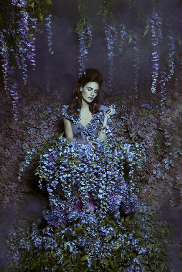 fotokunst wisteria blauregen garten prinzessin
