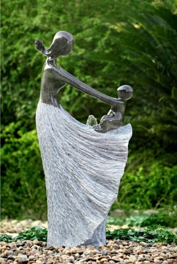 garten gestalten kunstfiguren steine exterieur