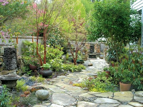 den garten mit steinen gestalten - schöne gartengestaltungsideen, Garten Ideen