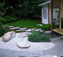 Den Garten mit Steinen gestalten - Schöne Gartengestaltungsideen