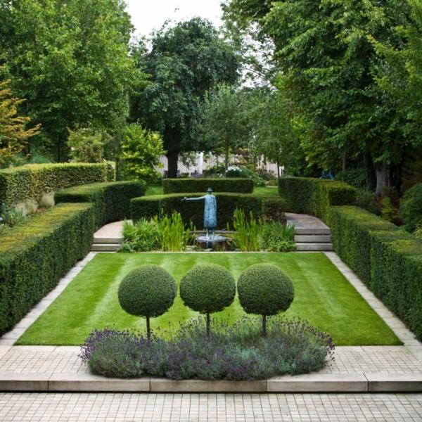 gartengestaltung stilvolle immergrüne gartenpflanzen