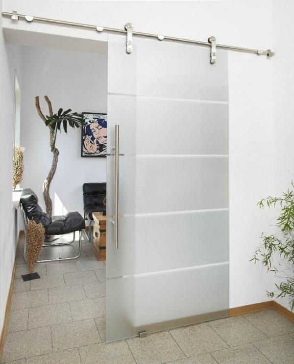 glasschiebetüren elegant helles ambiente pflanzen