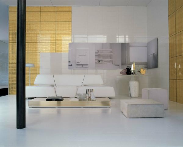 gold wandfliesen rex italienisch stil wohnzimmer