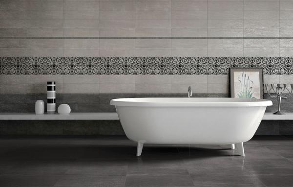 grafite grigio badewanne schwarz muster