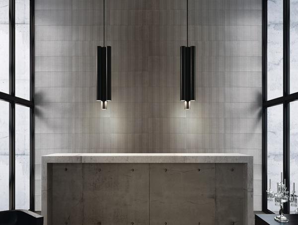 grau beton kücheninsel meltin fap ceramiche