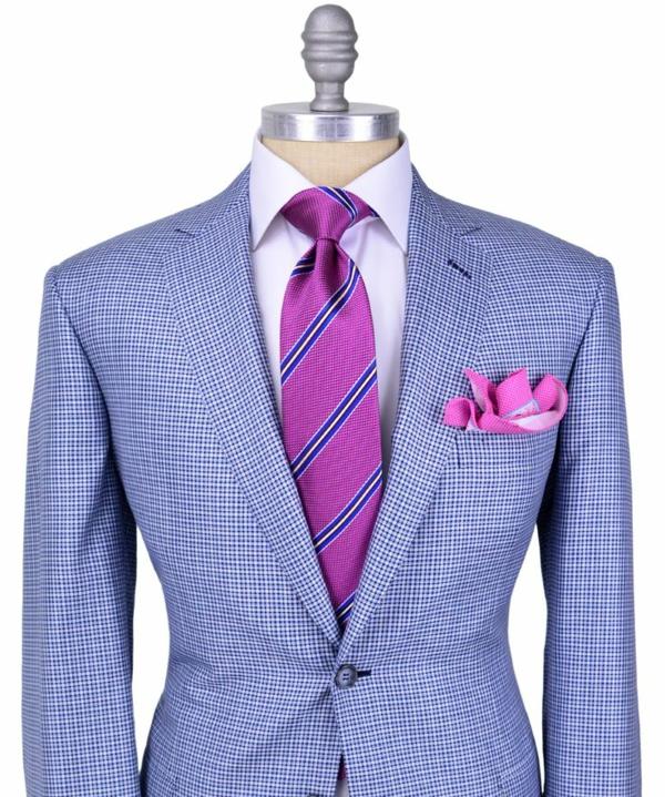 herrenmode italienischer anzug schicke farben schulter breit v-förmig